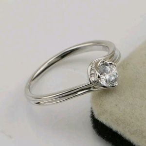 Sz 7 Cz white gold filled ring